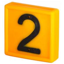 Номер для ремней на шею, цифра 2