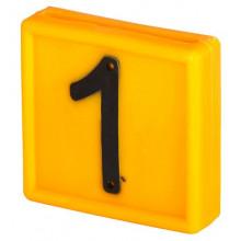 Номер для ремней на шею, цифра 1