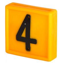 Номер для ремней на шею, цифра 4