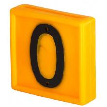 Номер для ремней на шею, цифра 0