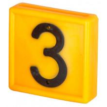 Номер для ремней на шею, цифра 3